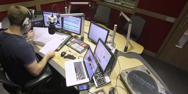 Jazz FM radio studio