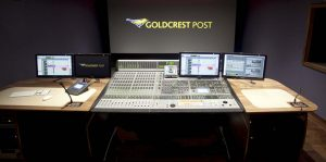 Goldcrest Post audio desk
