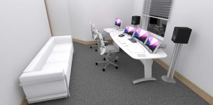 Air Post edit desk 3d visual