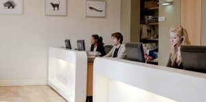 Evolutions reception desk