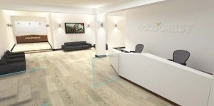 Goldcrest reception 3D visual
