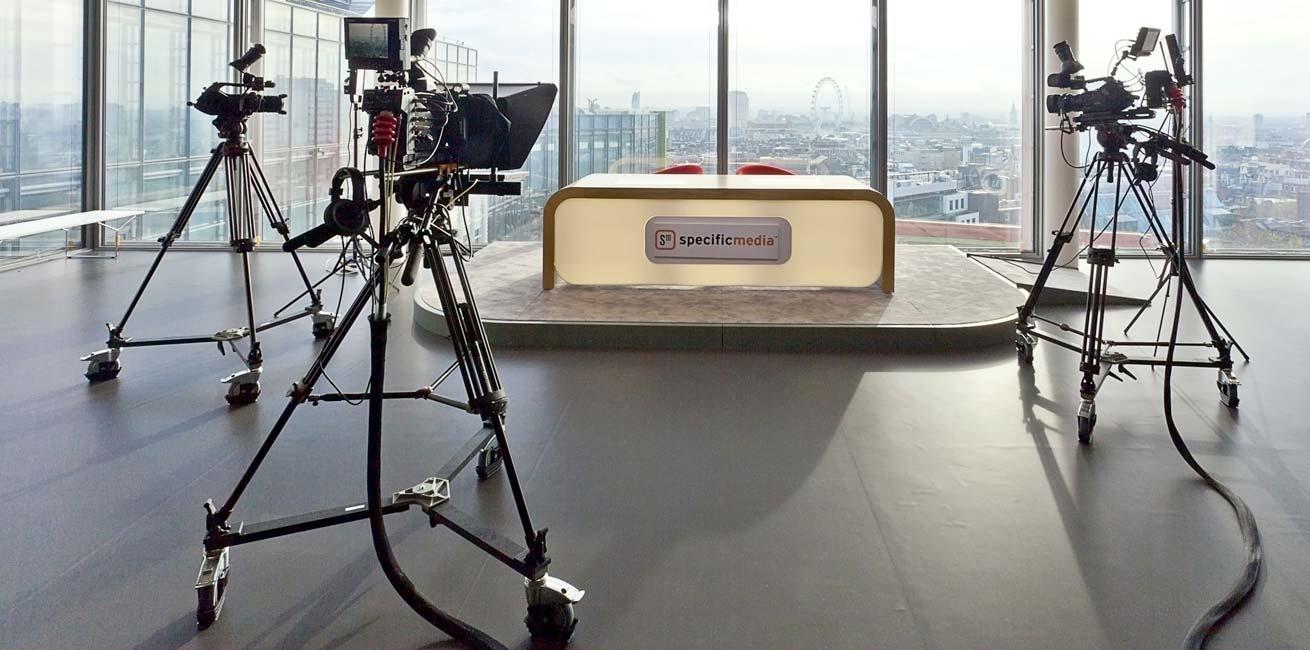Specific Media presenters desk