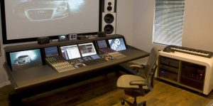 Wave Studios Amsterdam audio desk