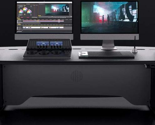 ProView sit-stand media desk