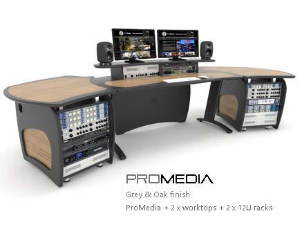 ProMedia with worktops and racks