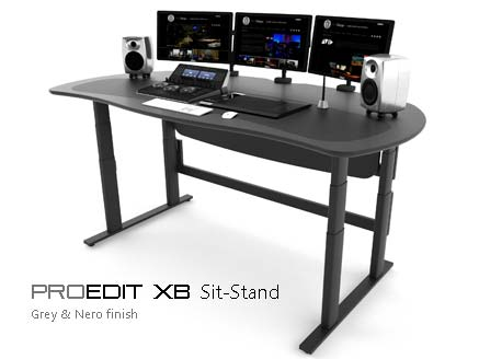 ProEdit XB Sit-stand Grey and Nero