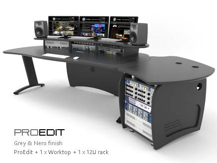 Proedit with worktop and rack