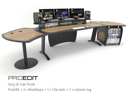 ProEdit with worktops and rack