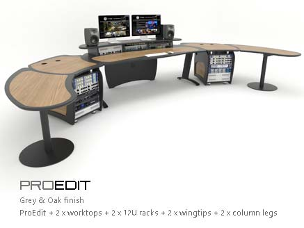 ProEdit with worktops, racks and wingtips