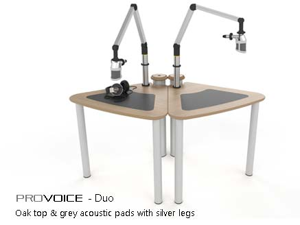 ProVoice Duo of voice over tables